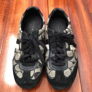 Coach black and gray tennis shoes